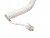 2 Metre Telephone Handset Cable -  Coiled 40cm White